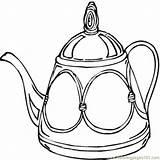 Teapot Coloring Bule Colorear Tetera Dibujos Disegni Colorir Imprimir Cucina Utensili Dibujo Theepot Desenho Kleurplaat Immagini Desenhos Printable Ausmalbilder Template sketch template