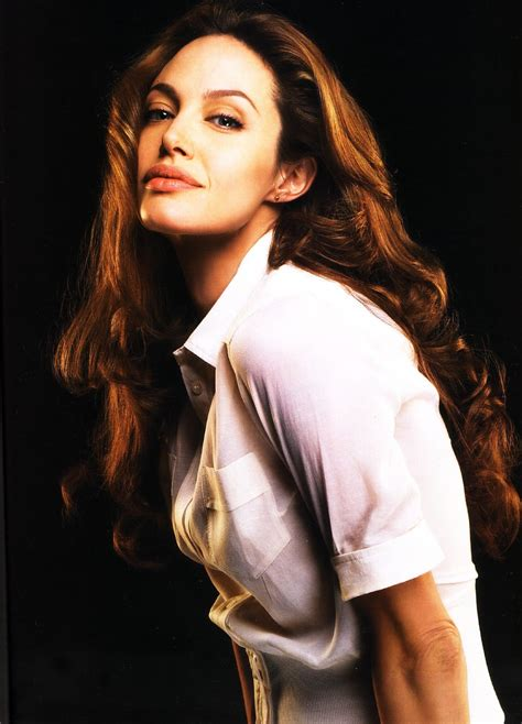 ladies  satin blouses angelina jolie  white blouse