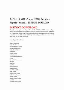 Infiniti G37 Coupe 2008 Service Repair Manual Instant