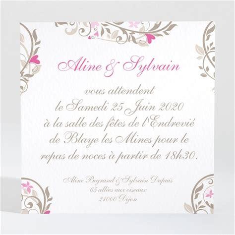 reponse invitation 50 ans de mariage d invitation mariage r 233 f n300116 du faire part