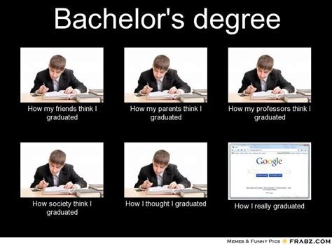 College Degree Meme - bachelor s degree what people think i do what i really do perception vs fact
