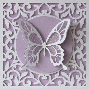 butterfly flourish card  images design store