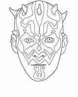 Coloring Darth Maul Wars Star Mask Female Jedi Soldier Printable Masks Guard Educativeprintable Sheets Royal sketch template