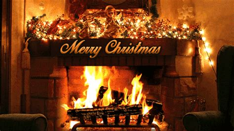 Animated Yule Log Wallpaper - 30 great merry gif images to with friends