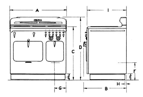 standard stove width for cabinets kitchen stove dimensions gallery
