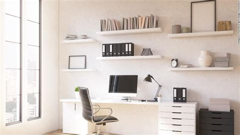 Standing desks, shelving units and office chairs: These