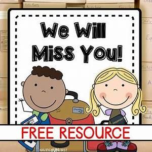 We Will Miss You : student moving goodbye book freebie by having fun first tpt ~ Orissabook.com Haus und Dekorationen