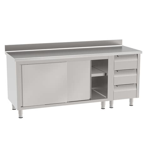 workbench  sliding doors  drawer unit
