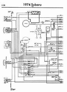 Subaru 1400 1974 Wiring Diagram