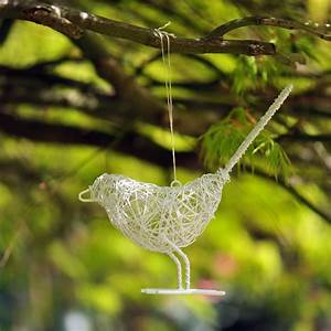 Buy Wire bird - white: Delivery by Crocus