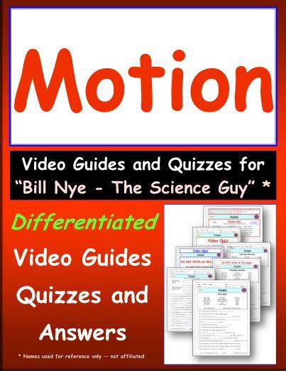Worksheet For Bill Nye  Motion * Video Differentiated Worksheet  Video Guide