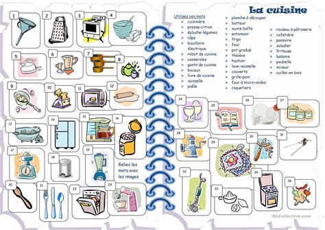 fiches cuisine cuisine fiche d 39 exercices fiches pédagogiques gratuites fle