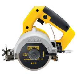 dewalt dwc410 hand held wet tile saw 110mm 110v dwc 410