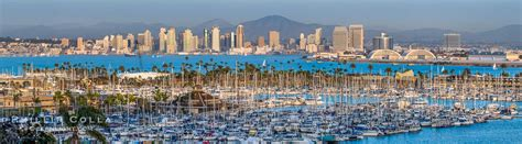 High Resolution Panorama San Diego City Skyline
