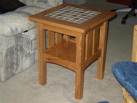 tile top end table doityourself