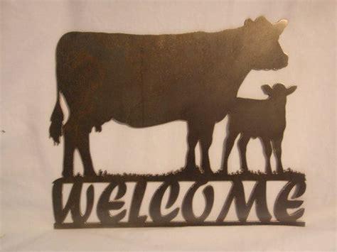 calf metal  sign  jbweldz  etsy