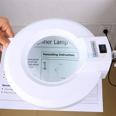 floor l with magnifying glass led magnifying l floor desk table magnifier glass lens