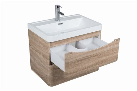 modern peace light oak bathroom furniture vanity units