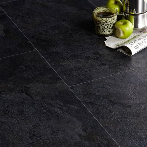 colours black slate effect luxury vinyl click flooring