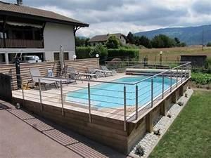piscine enterree sur terrain en pente With piscine a debordement sur terrain en pente