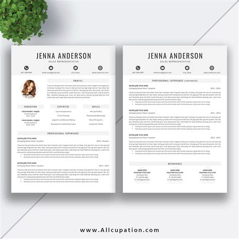 Clean Creative Resume Templates by Creative Resume Template Cover Letter Word Modern