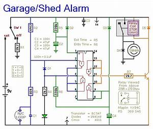 Shed  Garage Alarm Circuit Diagram