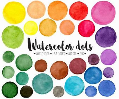 Clipart Dots Watercolor Painted Clip Watercolour Circles