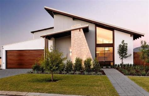 gambar desain rumah atap miring  samping warna cat
