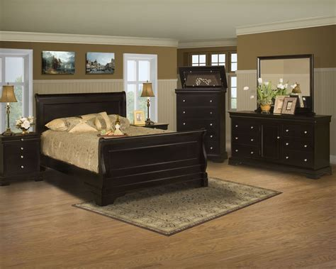 New Bedroom Set by Black Cherry Sleigh Bedroom Set From New
