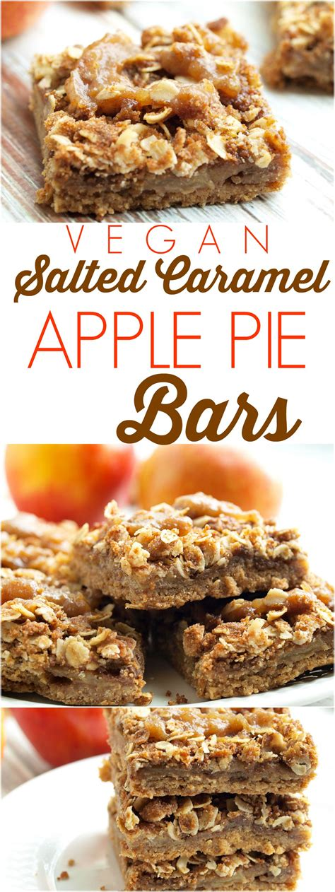 Salted Caramel Apple Pie by Vegan Salted Caramel Apple Pie Bars Happy Healthy