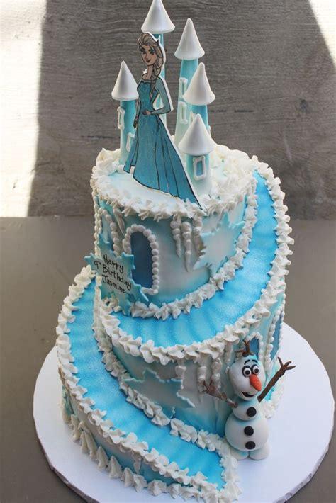 frozen birthday cakes  stairs frozen castle cake