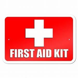 "First Aid Kit 9"" x 6"" Metal Sign   eBay"