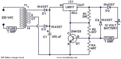 Chager Circuit For Smf Batteries Electronic Circuits