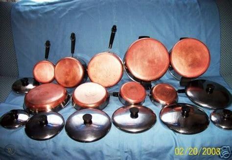 pieces  vintage revere ware pots pans cookware
