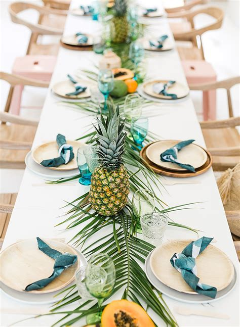 Papaya & Palm Leaves Tropical Baby Shower  Inspired By This