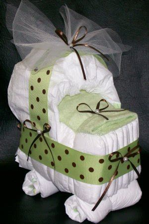 bassinet diaper cake neutral baby shower polka dots boy