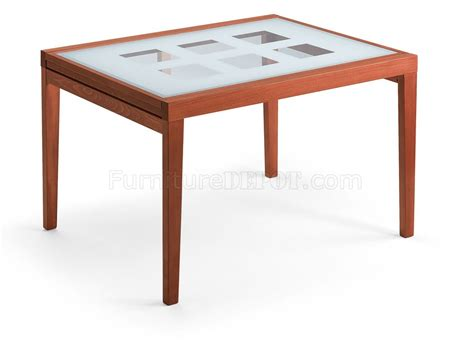 fold out table top contemporary cherry dinette w fold out frosted glass top table