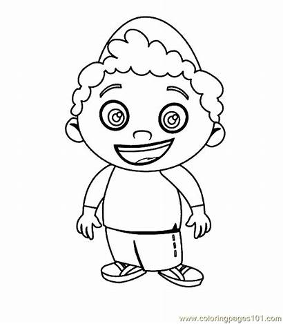 Coloring Cartoon Pages Einsteins Character Printable Drawing