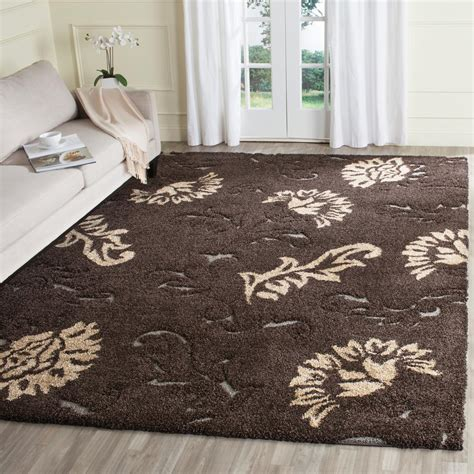 Brown Shag Area Rug by Safavieh Florida Shag Brown Smoke 8 Ft X 10 Ft Area