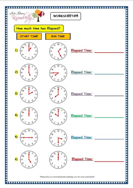 grade 3 maths worksheets 8 6 elapsed time lets share