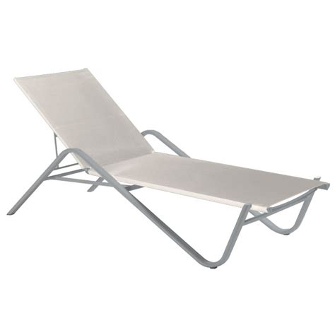 chaise emu emu 195 alu adjustable chaise w fabric back seat