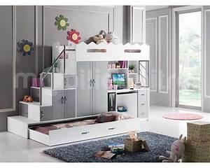 Lit Avec Bureau : lit mezzanine noa la rolls des lits pour enfant voici notre avis ~ Teatrodelosmanantiales.com Idées de Décoration