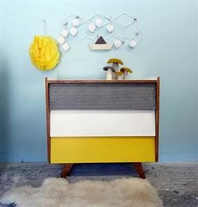 commode vintage relooking graphique jaune noir regis With la maison du dressing 4 idees relooking interieurpeinture sur meuble recup