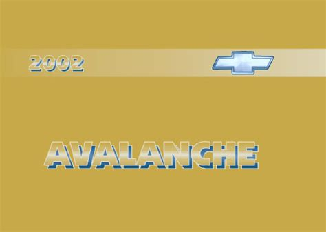 chevrolet avalanche owners manual  give