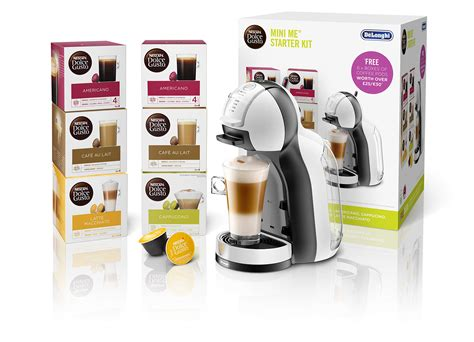 Receive tips to get the. DeLonghi EDG305.WB Dolce Gusto Mini Me Coffee Machine Starter Kit by De'Longhi,1460 W, White ...