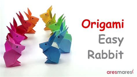 origami  simple rabbit easy single sheet youtube