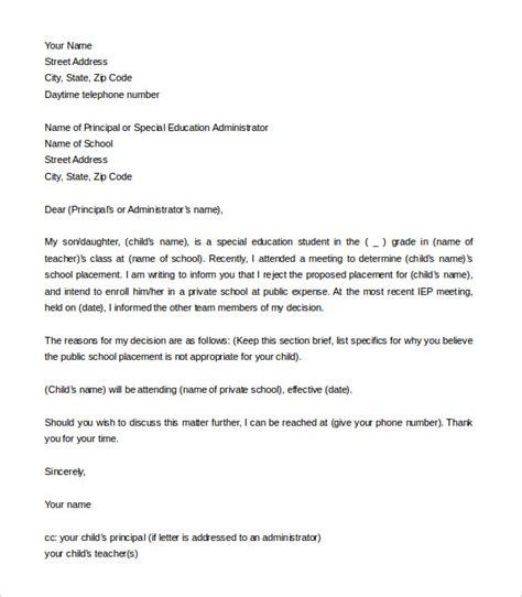 school letter  intent  word  format