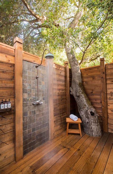 cool  relaxing outdoor shower ideas gardenoholic