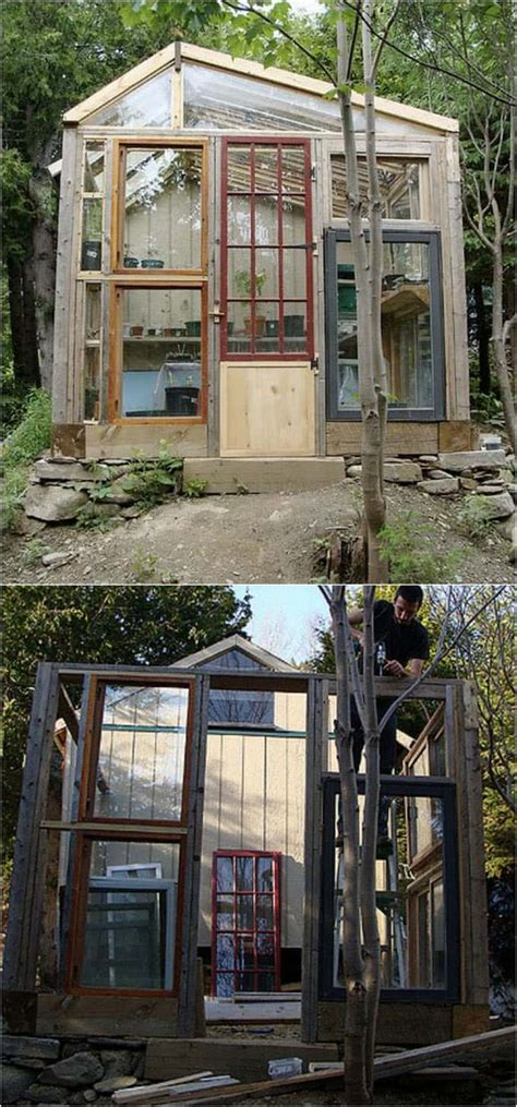 Shed From Recycled Materials by 12 Most Beautiful Diy Shed Ideas With Reclaimed Windows