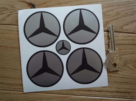 mercedes benz simple style dark grey silver wheel centre